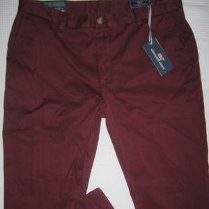 Vineyard Vines Pants - Vineyard Vines Breaker Pants Mens Regular Fit Red